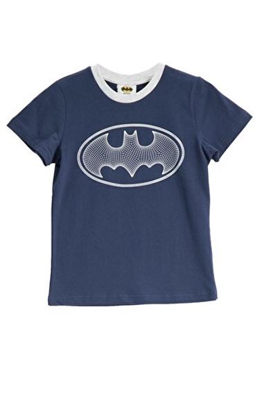 Batman Batman Lisanslı Sarı Erkek Çocuk T-Shirt Lacivert